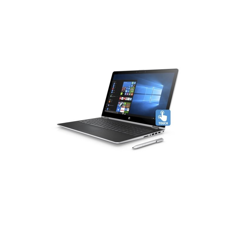 hp pavilion x360 15 6 touchscreen 2 in 1 mineral silver. Black Bedroom Furniture Sets. Home Design Ideas