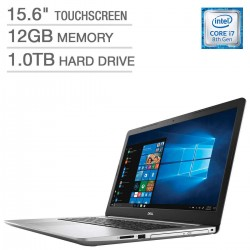 "Dell Inspiron 15 Intel Core i7-8550U 12GB 1TB HDD 15.6"" Full HD Touch LED Silver Laptop"